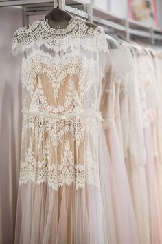Vintage-inspired wedding dresses.