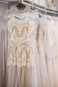 Vintage-inspired wedding dresses.