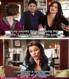 Gloria is hilarious! I love Modern Family :)