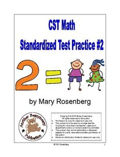 This is a 24 page standardized test practice packet for the CST. Second grade standards are used. Included in the packet are*  An answer key*  ...