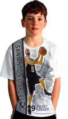 d07d8bb4e0b Levelwear Youth San Antonio Spurs Tony Parker Breakaway White T-Shirt