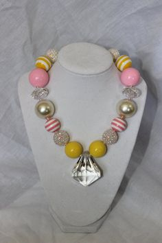 Chunky Bubblegum necklace girls necklace by LightningBugsLane, $19.00