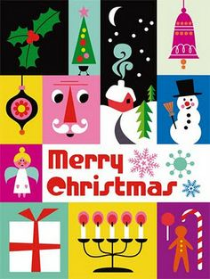 Gorgeous, bright, happy holiday cards by Ingela P. Arrhenius at Paperchase