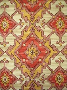 Sundance Vermillion:P. Kaufmann Fabric, Southwest fabric print on cotton duck. Southwestern Fabric, Custom Valances, Take A Seat, Home Decor Fabric, Fabric Wallpaper, Surface Pattern Design, Designer Wallpaper, Linen Fabric, Decoration