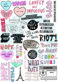 Set 30. Tumblr Stickers. Stickers. Set of by BestStickersClub