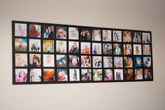 DIY photo collage on foam core board... Perfect for renters who can't put holes in the wall!