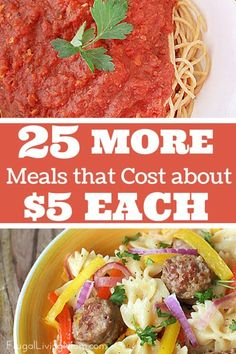 Keep you budget under control with these inexpensive meals. My best tip for keeping the costs of the recipes low is to learn to substitute, if you need to. If ground beef is $5 a pound one week but ground turkey is $2 a pound, use ground turkey.