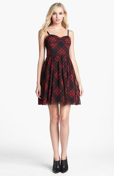 Betsey Johnson Plaid Fit & Flare Dress available at #Nordstrom