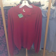 Men's red polo