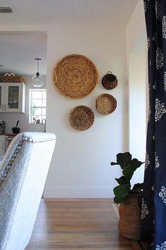 Anímate a decorar con cestas cualquier pared de tu casa