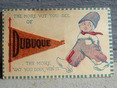 Antique Postcard - Dutch Boy - Dubuque Iowa - 1915 by modalabode on Etsy