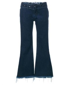 MARQUES ALMEIDA Frayed Flared Cropped Jeans
