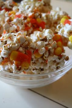 Trisha B Blog: {In the Kitchen Thursday} Candy Corn Popcorn Balls