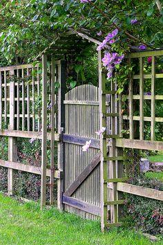 Gate & Clematis, Charminster, Dorchester, England