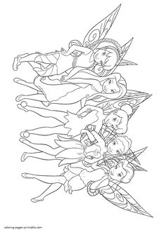 baby tinkerbell coloring pages - photo#32