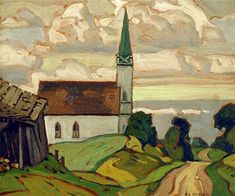 Church at Testin, 1932 by Alfred Joseph Casson on Curiator, the world's biggest collaborative art collection. Group Of Seven Art, Group Of Seven Paintings, Emily Carr, Canadian Painters, Canadian Artists, Monuments, Landscape Paintings, Watercolor Paintings, Tom Thomson Paintings