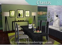 SIMcredible! Designs 4 | Dining rooms 1