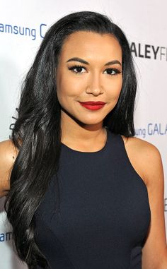 Lea Michele, Naya Rivera, Demi Lovato, Adam Lambert, and Chris Colfer in Glee Girl Celebrities, Celebs, Naya Rivera Glee, Maya Rivera, Hailey Kiyoko, Glee Cast, Sheer Beauty, Cute Beauty, Woman Crush
