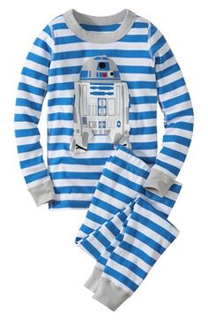 055995519a Hanna Andersson  Star Wars™ - R2-D2  Organic Cotton Two-Piece Fitted Pajamas  (Toddler Boys