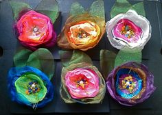 Wild Gypsy Roses brooch pins/hairclips www.dvmjewellery.com