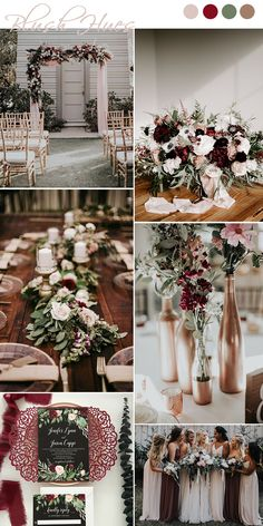 Top 9 Fall Wedding Color Schemes for and rose gold, wedding cent. Top 9 Fall Wedding Color Schemes for and rose gold, wedding centerpieces, wedding bouquets, wedding decora. Romantic Wedding Colors, Fall Wedding Colors, Romantic Weddings, Purple Fall Weddings, Wedding Color Schemes Fall Rustic, Summer Wedding Themes, Winter Wedding Ideas, February Wedding Colors, November Wedding Flowers