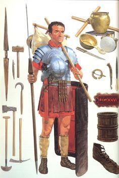 Roman Legionary in Northern Britain, c. 161-180 AD (Roman Army - Brasseys History of Uniform)