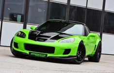 Lime green, 890-horsepower Chevrolet Corvette Z06.