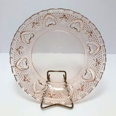 FNG Indonesia | Vintage | Pink Glass Plate 👑Your Queen of Vintage👑 Unique vintage finds. New items added every day!  ⚪️ ⚪️ ⚪️  #etsysellers #vintageetsyshop  #vintagedecor #vintagesale #thriftydecor #vintage #bestofetsy #queenofvintage #midcenturymodern #midcenturystyle #midcenturyhome #eclectichome #artglass #vintageglassware #giftideas #vintagestuff #vintagepins #vintagegifts #vintagegiftideas #collectibles #fleursdelis #fng #indonesiaglass #glassplate #collectable #pink Vintage Pins, Unique Vintage, Vintage Decor, Mid Century House, Mid Century Style, Thrifty Decor, Vintage Glassware, Vintage Beauty, Midcentury Modern
