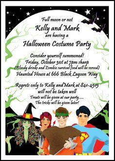174 best halloween invitations images on pinterest halloween