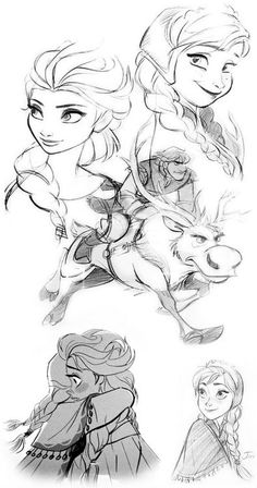 Animation The sketches of Jin Kim, the pencils are too. Walt Disney Animation Studios has released concept art and character visual development art for Frozen. Frozen Disney, Film Disney, Disney Art, Frozen Art, Sven Frozen, Frozen 2013, Frozen Movie, Walt Disney Animation Studios, Disney Sketches