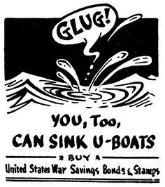 U-Boats, May 24, 1942, Dr. Seuss's World War II Political Propaganda Cartoons, published in PM Magazine, USA