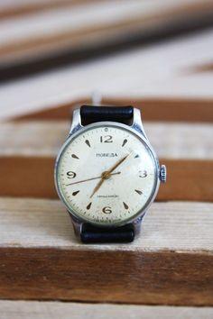 Vintage Soviet 'Pobeda' Watch.
