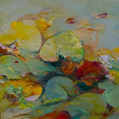 Simply Floating-Water Lilies by Marcia Holmes Oil ~ x Texture Water, Lily Pond, Floating In Water, Flower Art, Art Flowers, Painting Inspiration, Art Inspo, Beautiful Paintings, Art Images