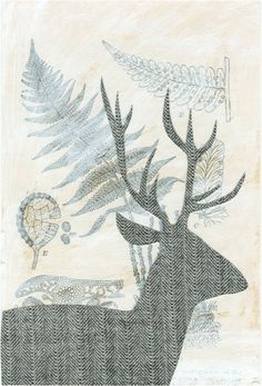 deer collage by Christina Lyon