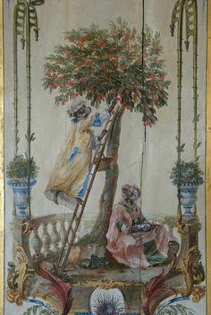 Château de Chantilly. Appartements Princiers. Petits Appartements. La Petite Singerie. Christophe Huet. 1737