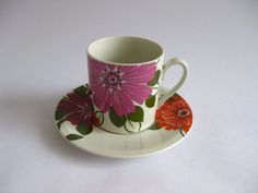 Vintage Villeroy and Boch Cup and Saucer Floral by RetroEurope, €12.50