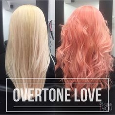 Before and after by @ibrushyou. (Honestly. It is peach f*cking perfection.) She used our Pastel Pink and Pastel Orange conditioners to take her client's locks from platinum to full blown mermaid goddess!