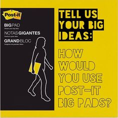 Hooray For Big Ideas! Post it Big Pads!