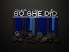 This new design has been very popular this year, and for good reason!  What a great way to display your achievements while continuing to motivate for that next big race!