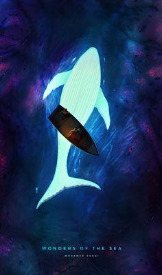 Wonders of the sea by Mohamed Daoui | Fantasy | 2D | CGSociety Fantasy Landscape, Fantasy Art, Logo Image, Japon Illustration, Arte Obscura, Wow Art, Environment Concept Art, Environmental Art, Anime Scenery