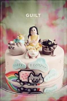 Famous Internet Cats Birthday Cake  Cake by guiltdesserts