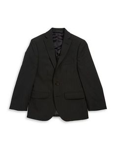 Lauren Ralph Lauren BOYS 8-20 Pinstriped Blazer  Black 12