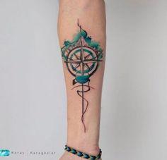 200+ Best Mountain Tattoos for Men (2020) Range, Geometric, Simple, Small Designs Tatoo Compass, Simple Compass Tattoo, Compass Tattoo Design, Small Tattoos With Meaning, Tattoos For Women Small, Trendy Tattoos, Tattoos For Guys, Random Tattoos, Leg Tattoos