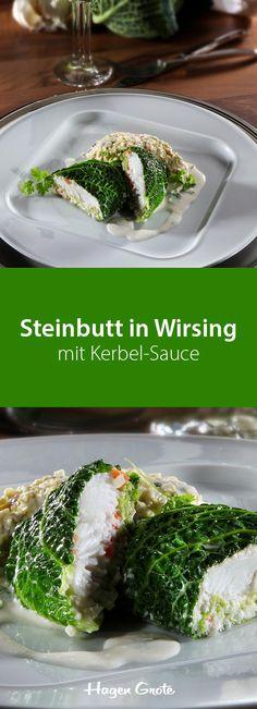 Steinbutt in Wirsing mit Kerbelsauce
