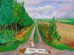 ideas for fine art painting landscape david hockney David Hockney Landscapes, David Hockney Art, David Hockney Paintings, Robert Rauschenberg, Edward Hopper, Abstract Landscape, Landscape Paintings, Yorkshire, Beach Scrapbook Layouts