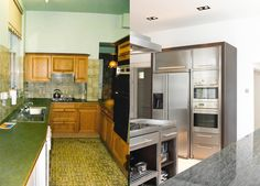 Before and After- Kitchen Design Transformation Images, Kitchen Design, Kitchen Cabinets, Home Decor, Decoration Home, Design Of Kitchen, Room Decor, Cabinets, Home Interior Design