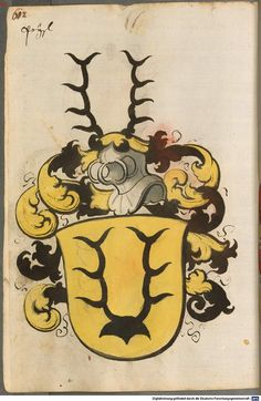 Scheibler'sches Wappenbuch Süddeutschland, um 1450 - 17. Jh. Cod.icon. 312 c Folio 612