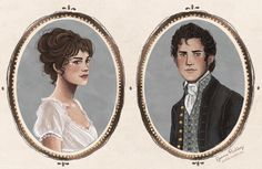 """jpaddey: """"Elizabeth Bennet and Fitzwilliam Darcy, my loves just in time for Valentine's Day ♥️ """""""