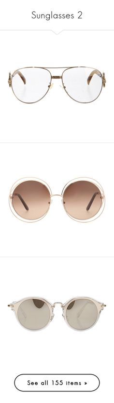 """""""Sunglasses 2"""" by missk2blue ❤ liked on Polyvore featuring accessories, eyewear, sunglasses, coconut, wildfox sunglasses, mirrored lens sunglasses, round glasses, mirrored glasses, round mirrored sunglasses and glasses"""