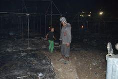 Νύχτα κόλασης στη Λέσβο: Στάχτες το hotspot, στους δρόμους οι μετανάστες, βράζει…